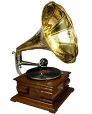 Desk Music Box Phonograph Square Hmv Old Music Box Antique Gramophone