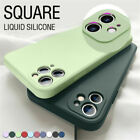 Liquid Silicone Case For iPhone 13 12 Pro Max 11 XS XR 8 7 SE Camera Lens Cover