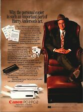 Harry Anderson Magic Canon PC-1 PC-2 Personal Copiers 1991 Vintage Print Ad