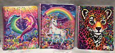 NEW Lot of 3 Lisa Frank One Subject Wide Ruled 80 Sheet Spiral Notebooks