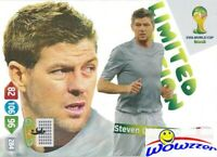 2014 Panini Adrenalyn World Cup EXCLUSIVE Steven Gerrard Limited Edition MINT