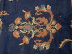 Antique Turkish rug distressed estate carpet 12 x 15 Worn Shabby Chic
