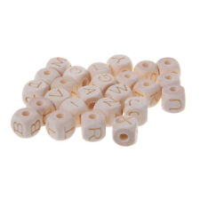 12mm Baby Teething Wood Letter Beads DIY Crafts Accessories Chew Wooden Bead