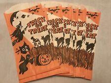 "12 Vintage Halloween ""Trick Or Treat� Paper Bags"