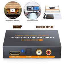 1080P Adaptador HDMI a SPDIF Converter RCA Extractor Audio Analógico + Cable USB