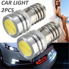 2X E10 1 COB SMD 1W PURE WHITE 6V HIGHLIGHT LED CAR LAMPS BULBS