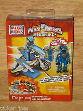 NEW Mega Bloks 5825 POWER RANGERS MEGAFORCE Bike Mode BLUE RANGER HERO RACER