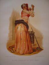 Almée Danseuse au Caire égypte XIXe lithographie  Garnier Dufrénoy