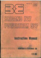 BOMFORD BRIGAND 727 & POWERTRIM 587 HEDGETRIMMER OPERATORS MANUAL