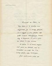 Louis CALAFERTE Lettre autographe signée. 2 pages in-4° sur papier à en-tête.