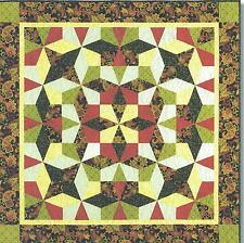 Kaleidoscope Puzzle Quilt pattern by Maggie Ball of Dragonfly Quilts