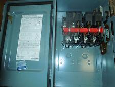 Square D #HU462AWKE1, 60amp, 4 Pole, 600V, Nema: 12, Non fuse, w/interlock