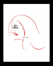 TALLULAH BANKHEAD 1942-rpt Broadway star The Skin of Our Teeth Caricature MATTED