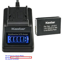 Kastar Battery LCD Quick Charger for Canon LP-E17 LC-E17 & Canon EOS 800D Camera