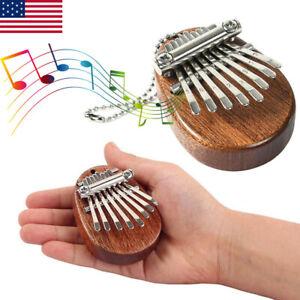 8 Keys Mini Kalimba African Thumb Piano Finger Mbira Solid Wood Musical Toy Gift