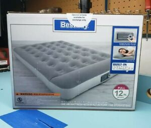 Full Size Air Bed Mattress with Built In Ac Pump Sleeping Camping FREE SHIPPING