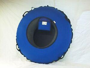 "NEW 44"" Heavy Duty Snow Tube BLUE /Black SLICK BOTTOM Made in USA"