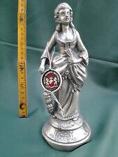 Statua statuetta metallo artistico dama Elisabetta '70 made Italy lady statue
