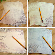 10Pcs/Set Vintage Flower Printing Letter Paper Stationery Supply Random