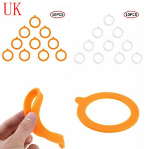 10Pcs Silicone Regular Jar Gaskets Replacement Airtight Case Rubber Seals Rings