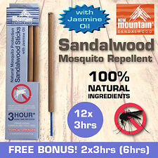 New Mountain® 100% Natural Sandalwood Mosquito Repellent with 'Jasmine Oil'