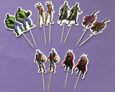 AVENGERS SUPERHERO CAKE TOPPERS PICKS boys birthday party Batman Hulk choose no