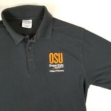 OSU Oregon State University Pharmacy Golf Polo Rugby Shirt Black Sz Large GIFT!