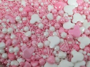 Sugar Sprinkles Minnie Mouse Theme - 50g - Cake / Cupcake Decorations