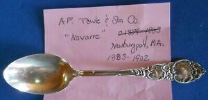 Vintage TOWLE NAVARRE STERLING SILVER TEA SPOON FLATWARE  18 gr
