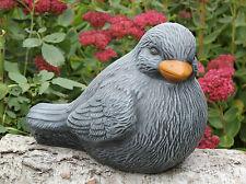 Steinfigur Vogel Drossel Gartenfigur Tierfigur Gartendeko Betonfigur Skulptur