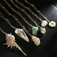 Stylish Beach Sea Shell Cowrie Pendant Chain Choker Necklace Womens Jewelry Gift
