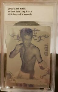 JAMEEL MASSOUH 2010 Leaf MMA UFC Yellow PRINTING PLATE SP #1/1 of 1 BCCG Slabbed