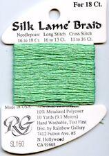 Rainbow Gallery Silk Lame' Braid - 18ct SL160 Dark Mint Silk Rayon Metallic 10yd