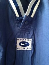 Vintage NIKE AIR Swoosh Windbreaker 1 Button V Neck Pullover Jacket Size Large
