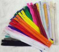 wholesale mix color 100pcs Nylon Coil Zippers Tailor Sewer Craft 7 Inch