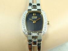 Citizen Eco-Drive women's watch Half bangle style with stones around
