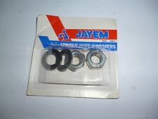 CYCLE WHEEL NUTS + WASHERS .. 5/16 SIZE STANDARD CLASSIC CYCLE BICYCLE