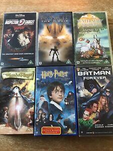 Bundle Of 6 Childrens VHS Videos Batman Harry Potter Inspector Gadget Bionicle +