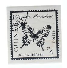 Butterfly Insect Postage Post Mark Stamp Stampington And Co Wooden Rubber Stamp