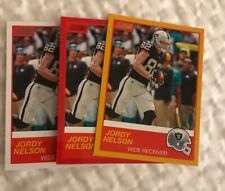 2019 Panini Score Jordy Nelson Red & Base & Gold Parallel Lot #37 Raiders