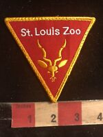 Vtg Yellow Border Version Missouri SAINT LOUIS ZOO Animal Patch - St. Louis 00Z2