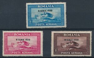 [39944] Romania 1930 Good airmail set Very Fine MH stamps