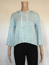 Abercrombie & Fitch Hollister Hoodie Women's 3/4 Sleeve Knit T-Shirt XS Blue NWT