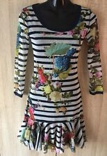 BEAUTIFUL RACE COCKTAIL JUICY COUTURE FLOWER PRINT WOMEN DRESS SIZE XS