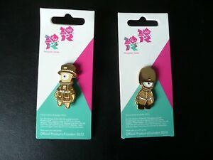 London 2012 - Gold Guards - Pin Badges (1066 & 1067)