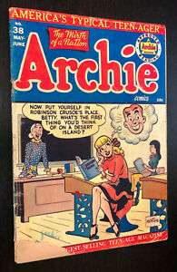 ARCHIE #38 (1949) -- Montana BETTY Cover -- Golden Age -- G/VG