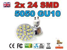 2x 4w 24 Smd 5050 Gu10, Luz De Techo Empotradas Lámpara Reflector En Color Blanco Cálido