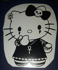HELLO Kitty Punk Emo Gothic Kitty Decal Sticker  CAR window 5""