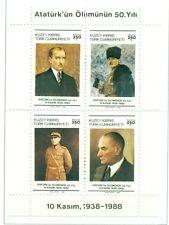 K. ATATURK - NORTHERN CYPRUS 1988 Centenary block