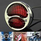 Chrome LED Taillight Rear Brake Lamp Red Light For Ford Model A Duolamp Chopper